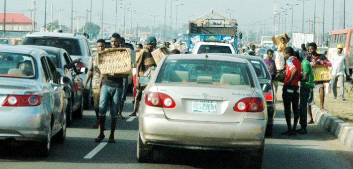 Traffic Hawkers At Ikorodu Road Lagos, Nigeria