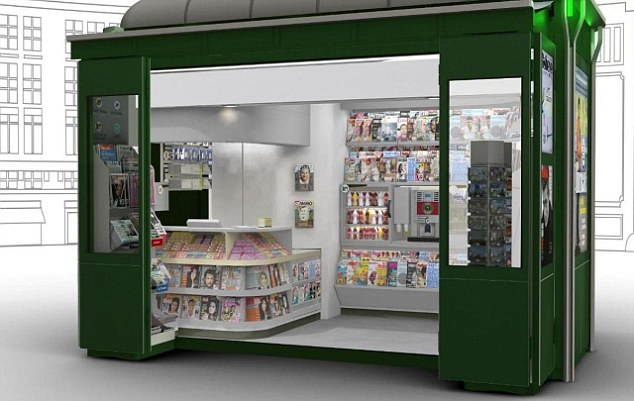 Newspaper Stand Designs : Paris rolls out first modern newspaper kiosk