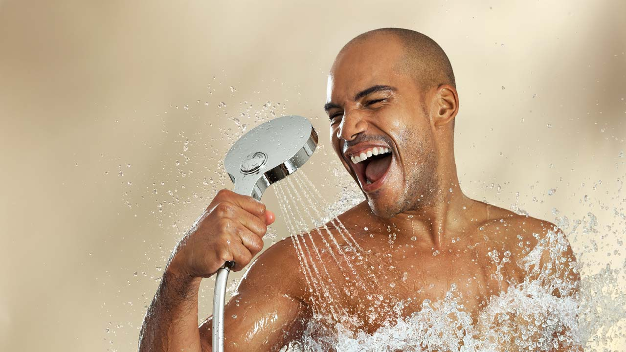 Image result for black person in a shower