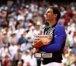Rafael Nadal of Spain celebrates victory at the 2017 French Open