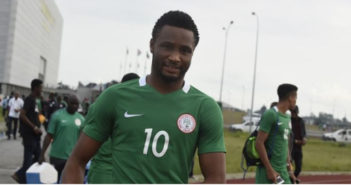 Nigeria's Captain,  John Mikel Obi / AFP PHOTO / PIUS UTOMI EKPEI