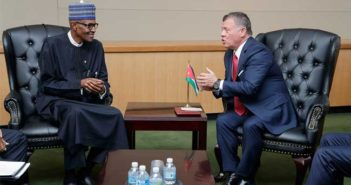 President Buhari with King Abdullah II of Jordan