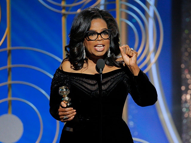 Oprah Winfrey becomes the first black to be awarded the Cecil B. DeMille Award for lifetime achievement